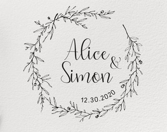 CUSTOM WEDDING STAMP Wedding Stamp Personalized Invitation Favor Custom