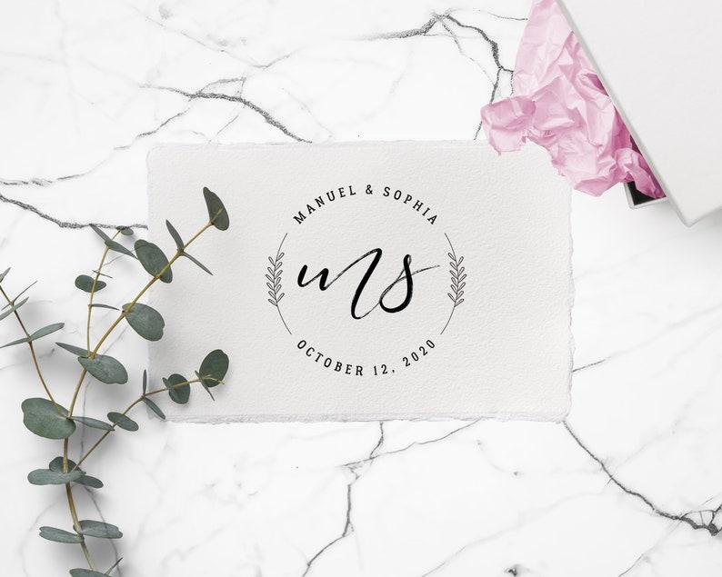 Hochzeitslogo Initialen