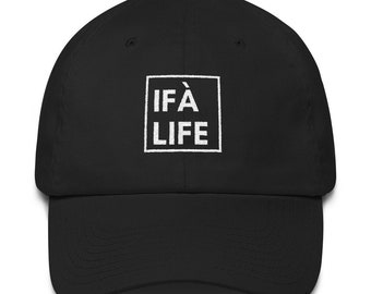 """eaf6f3084f7 Black """"IFA LIFE"""" Box Logo Dad Hat"""