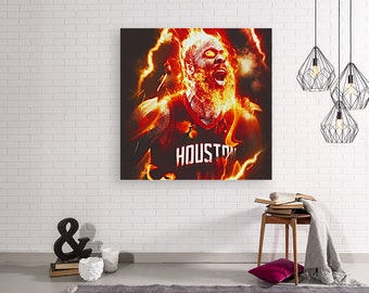 21d8c4f9cce2 James Harden POSTER nba art Poster Harden Poster canvas Harden artwork  Poster Print Harden Houston rockets poster beard artwork poster