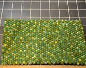 Stone Colour Felt Ball Rug  // Felt Carpet//  Decoration Area Rug // Floor Mat// Handmade Carpet// Woolen Carpet