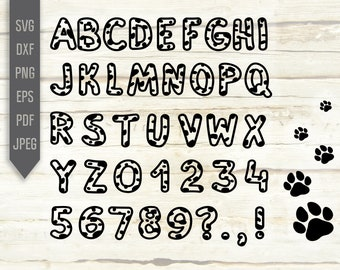 Firefighter Dalmatian Alphabet Letters And Numbers Set of 2 Educational Print