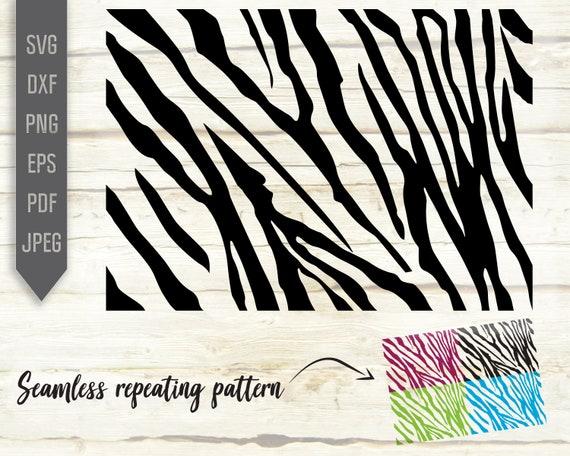 Zebra Seamless Pattern Svg Repeatable Pattern Repeat Pattern Etsy