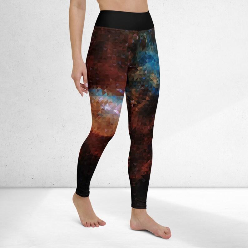 Workout pants Celestial yoga leggings Celestial bodies leggings Galaxy yoga pants Running tights
