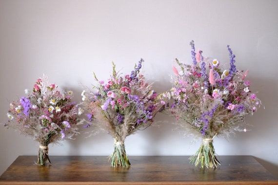 Trockenblumenstrauß Frühlingserwachen in drei Größen , dried bouquet, Trockenstrauß, dried Flowers, Trockenblumen (DHL)
