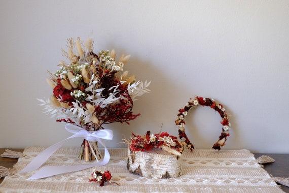 Brautstrauß Ruby aus Trockenblumen