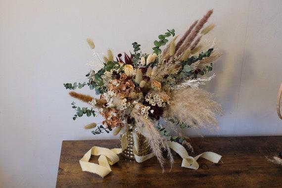 Brautstrauß Boho, Pampasgrasbrautstrauß, Bridal Bouquet, dried, Trockenblumenstrauß, dried bouquet, Trockenstrauß, getrockneter Strauß