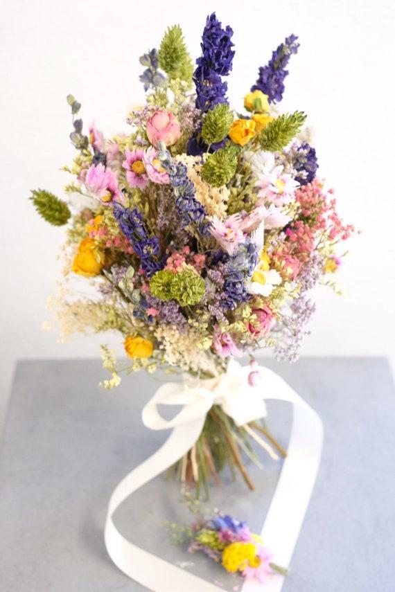 Brautstrauß Serie Annabel, Bridal Bouquet, dried, Trockenblumenstrauß, dried bouquet, Trockenstrauß, dried Flowers, getrockneter Strauß