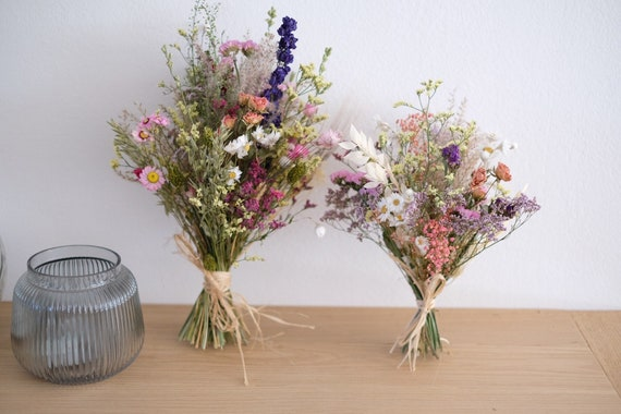 Trockenblumenstrauß Frühlingsgefühl in zwei Größen , dried bouquet, Trockenstrauß, dried Flowers, Trockenblumen (DHL)