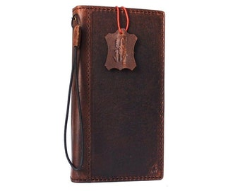 f38f1ee70112 SANSUNG GALAXY S9 PLUS S9+ Genuine natural Real Leather cover vintage book  wallet slim brown   case holder   credit cards magnetic closure