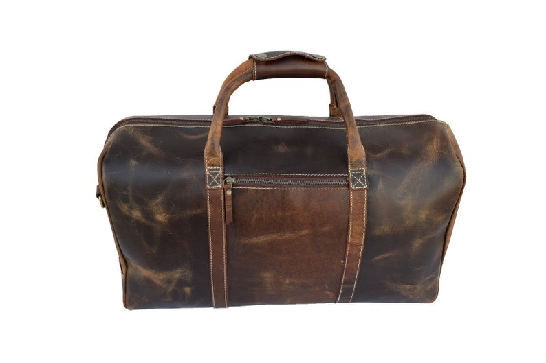 2022 inches Genuine Leather Travel Bag Vintage Duffel Outdoor Luggage Sports Duffle Brown Men Women  handbag buffalo Leather Unisex Gym