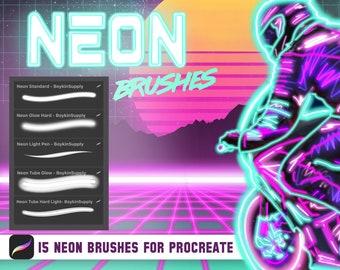 Neon brushes | Etsy