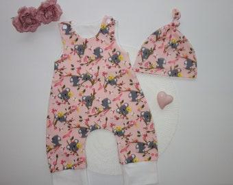 Baby overall 68//74 92//98 gris perros onesie pijama algodón ecológico