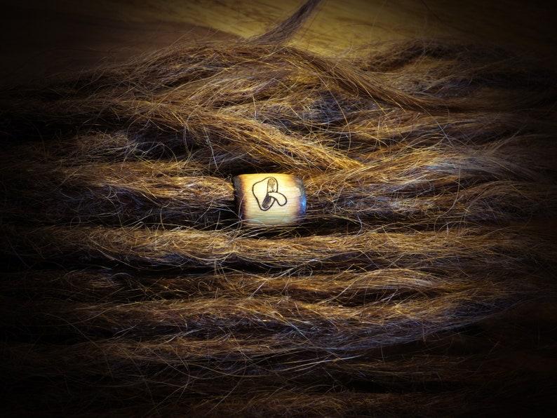 Dreadlock Beads with Mushroom Motif Dread Pearl Bamboo Bamboo Hippie Nature Alternative Rasta Boho