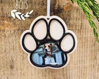 Dog ornament, personalized, animal ornament, ball Christmas wood, tree ornament, Christmas wood decoration, Christmas tree, Christmas decoration, wood style