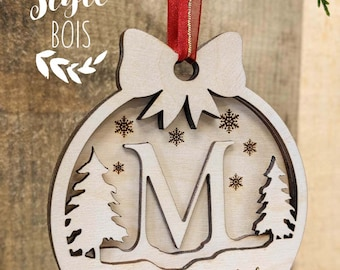 First Christmas baby, personalized ornament baby, wood ornament, ball Christmas wood, tree ornament, Christmas decoration wood, Christmas decoration, wood style