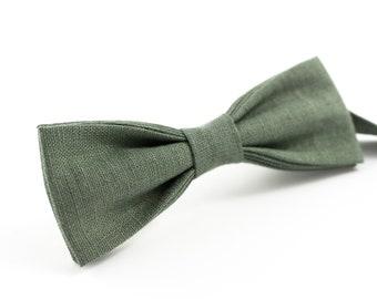 21e15ebef57c Pine skinny ties for weddings   Eco Friendly Linen skinny bow tie gift for  groomsmen - best wedding ties