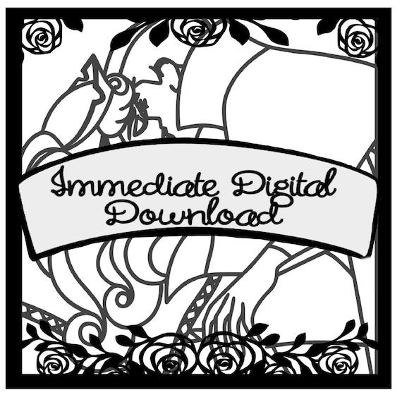 SVG Digital Download Dumbo Bath for Shadow Box SVG Digital File 2 layers