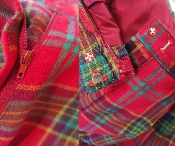 Vintage 80s-90s tartan Japanese design wool pants… - image 9