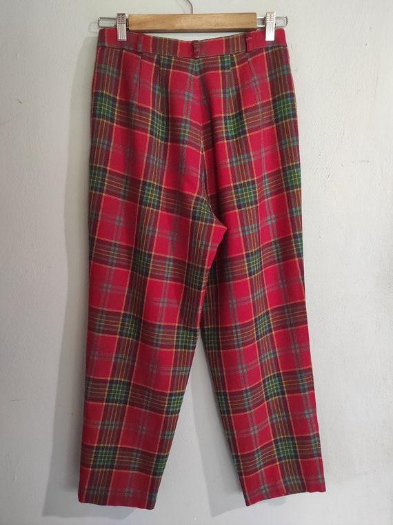 Vintage 80s-90s tartan Japanese design wool pants… - image 3