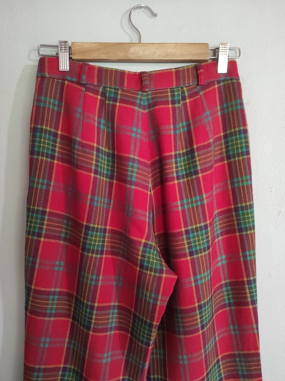 Vintage 80s-90s tartan Japanese design wool pants… - image 4