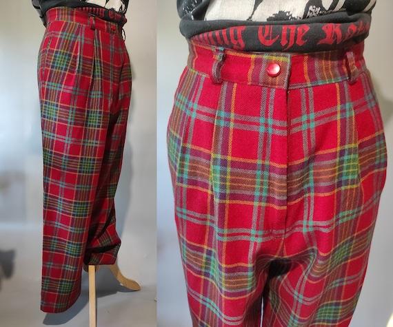 Vintage 80s-90s tartan Japanese design wool pants… - image 5