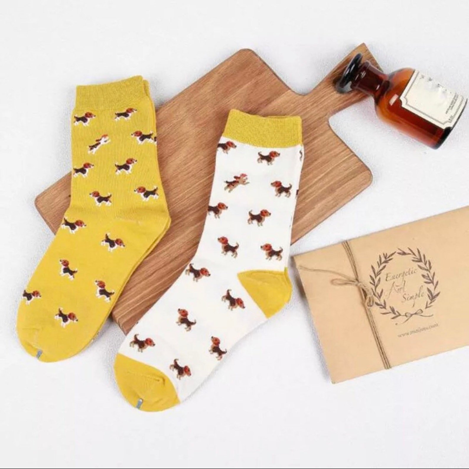 Socks with Beagle Print