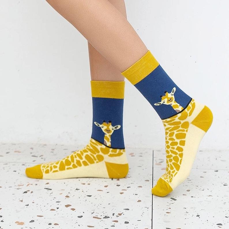 13. Giraffe Socks