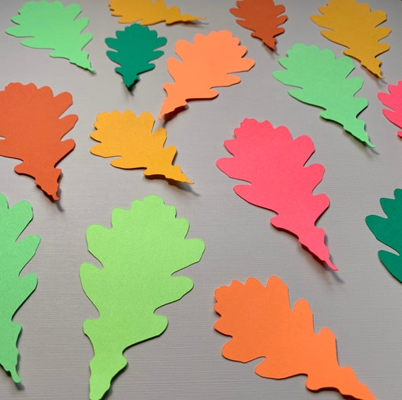 Autumn Leaves Cut Out Leaves Pre Cut Palm Leaf Cardstock Leaf Paper Leaves Green Leaves Jungle Leaves 5 Inch Leaves 4 Inch Leaf