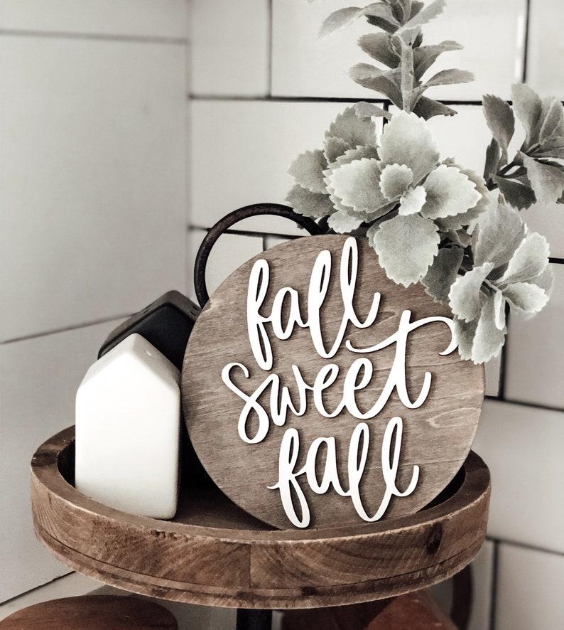 3D wood Sign  FALL SWEET FALL  Home  Farmhouse Decor  image 0