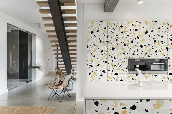 Terrazzo Flooring Wallpaper Self Adhesive Wallpaper Abstract Pattern Marble Texture Peel And Stick Wall Mural Temporary Wallpaper