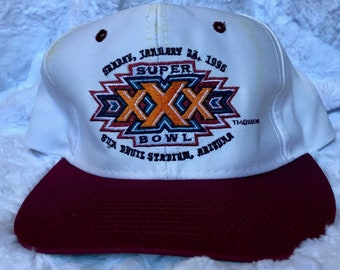 3fdba4fb1 1996 Super Bowl XXX 30 Snapback Baseball Cap Athletic Retro 1990s 90s Team NFL  Hat Logo 7 Dallas Cowboys Pittsburgh Steelers Rare Vintage