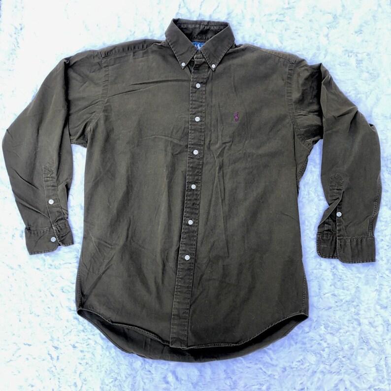 d66b32189 90s Ralph Lauren Polo Blake Long Sleeve Button Up Dress Shirt | Etsy