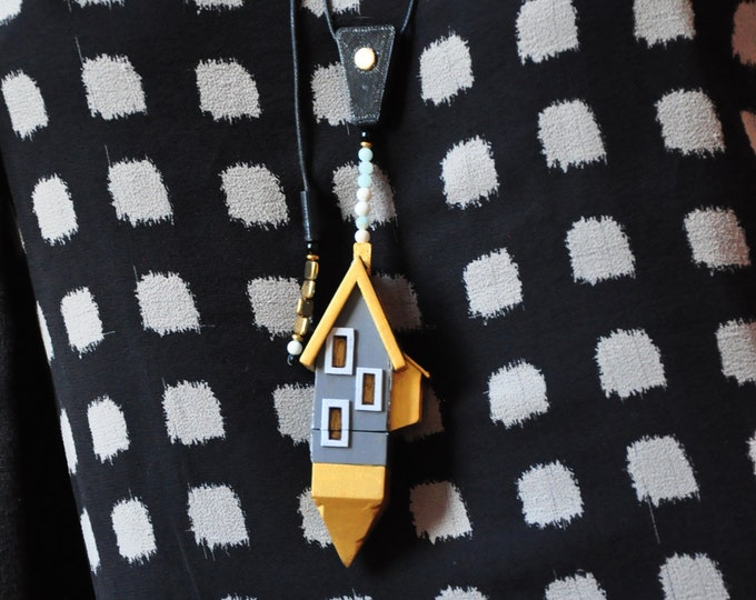 """Necklace """"Harry House Container"""" adjustable"""