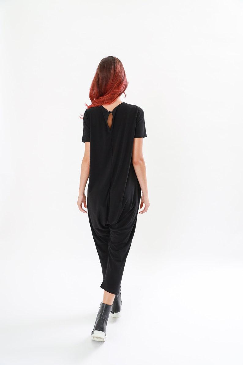 Black maxi Overall Black Pomper Black harlem Jumpsuit Long maxi jumpsuit