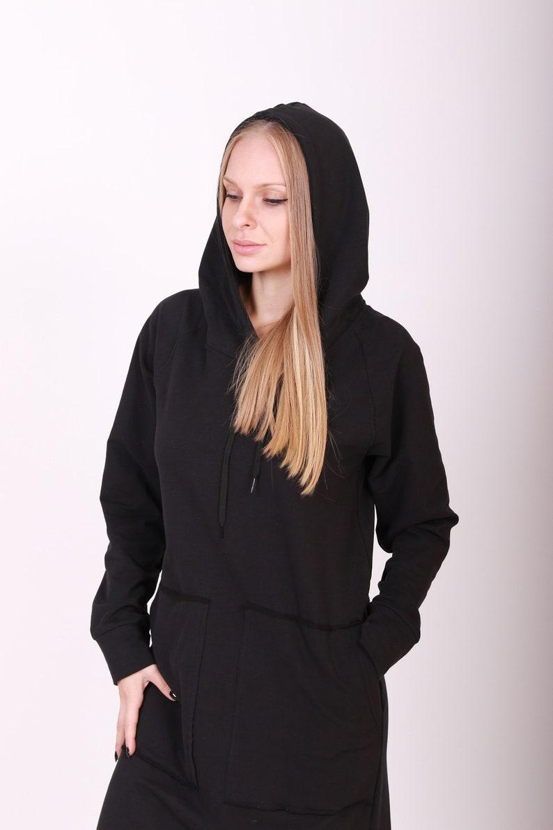 Caftan Dress Long  Maxi  Dress Plus Size  Maxi Dress Black Maxi Dress,Hooded Dress Gothic Clothing Plus Size Cotton