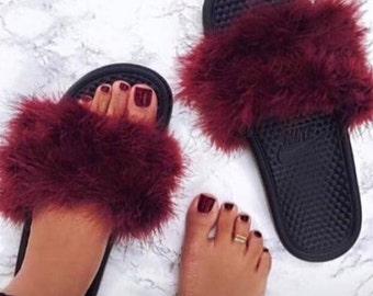 f12087f6283ec Faux fur slides