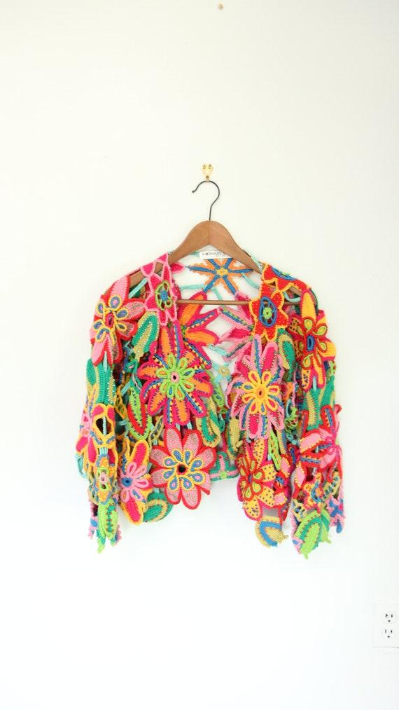 Flower Power Crochet Sweater