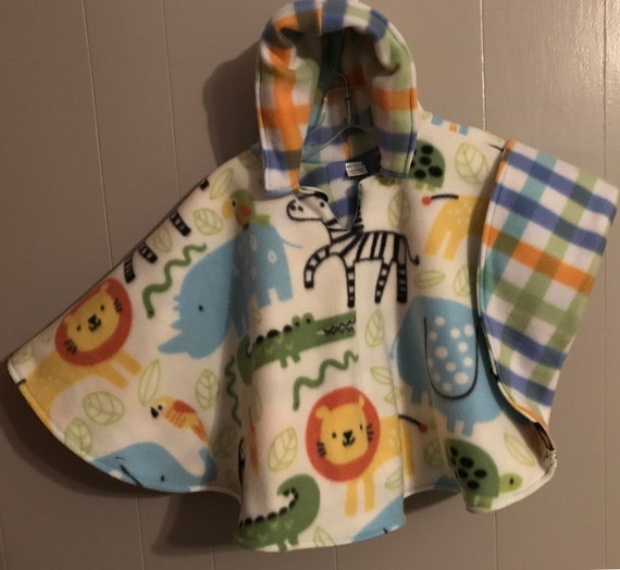 I Keep My Feathers Numbered Salmon and Plaid Infant Bee Seated Car Seat and Wheelchair Poncho