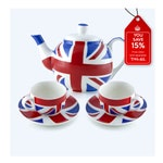 Handmade Union Jack Tea Set - 'Tea For Two' Deal