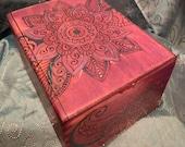 Purple Paisley Cigar Box