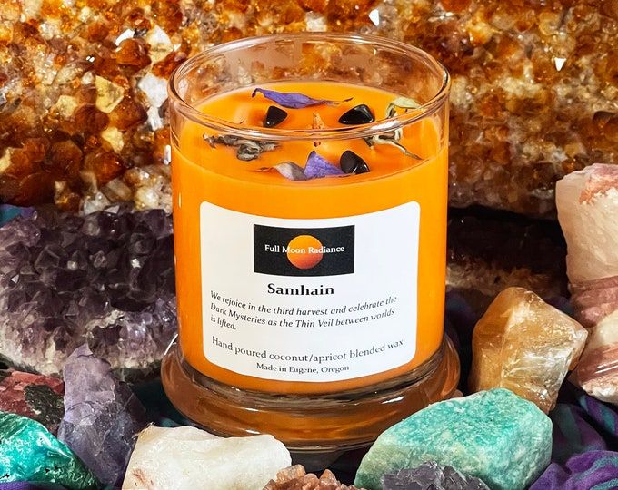 Featured listing image: Samhain Candle, Halloween Candle, October 31st
