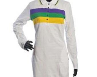 db8c76e8 Mardi Gras Chest Stripe Ladies Dress