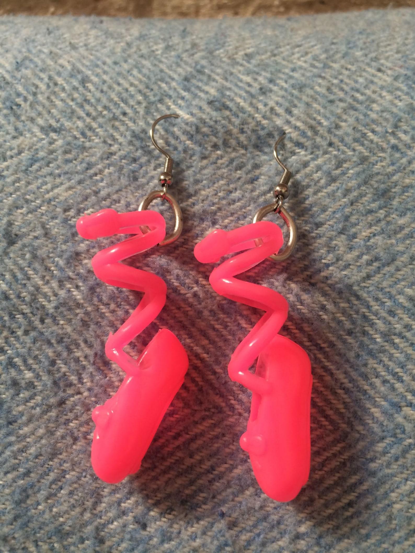 ballet slipper earrings