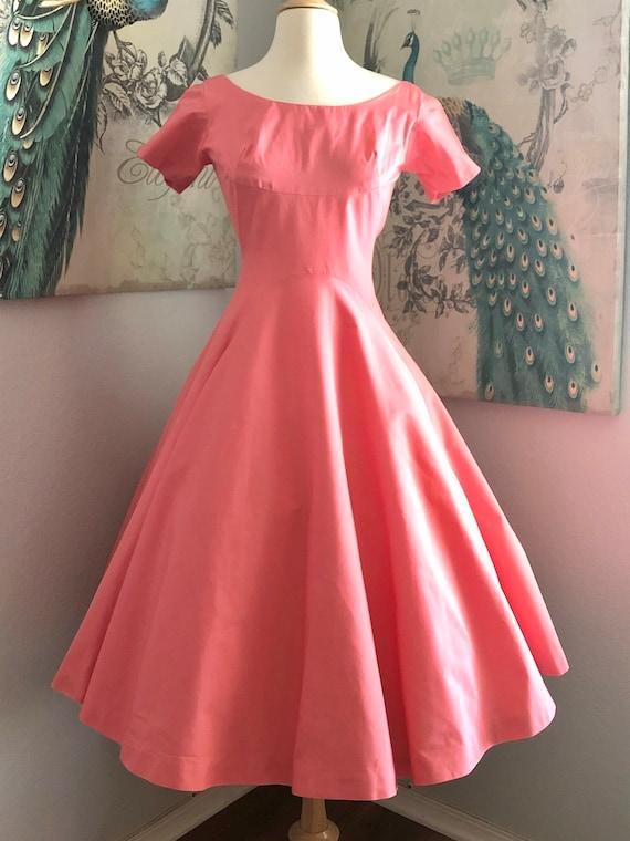 Vintage Jonathan Logan Coral Cotton Dress size S