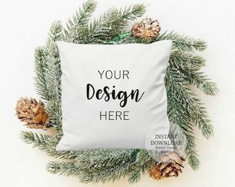 Christmas pillow mockups, Mockup Christmas pillows, Pillow Mockups, Mockup Pillows, Square Pillow Mockups, Holiday Pillow Mockup, Mockups