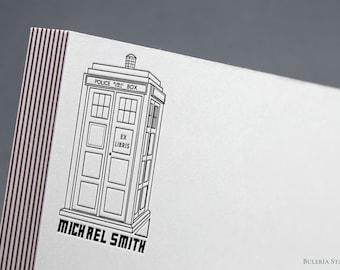 TARDIS, Doctor Who, Book stamp, ex libris stamp, Library Stamp, Ex-Libris Stamp, bookplate stamp, custom stamp