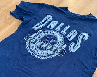 6d32dfe1060a 1990s Vintage Dallas Cowboys NFL Members Club T-shirt Texas Houston Nutmeg  Mills Athletics Promotional Tee Football Cotton Single Stitch