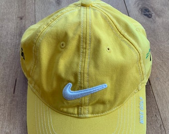 7234aaba44f 2000 s Era Nike Golf Hat With Custom Embroidery Red-Winged Blackbird Yellow  White Adjustable Cap Vintage