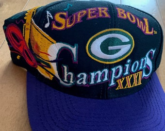 77c567d6ee17f Vintage Green Bay Packers Official NFL Snapback Cap Late 90s Super Bowl  XXXI Champions Embroidered Hat 1997 Wisconsin Football Logo Athletic